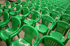 Green chairs Royalty Free Stock Photography