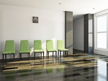 Green chairs in a lobby Royalty Free Stock Images