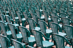 Green chairs Stock Photography