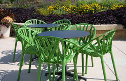 Green chairs Stock Photo