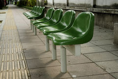 Green chairs Royalty Free Stock Photo