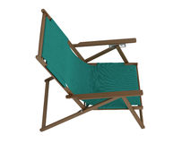 Green chaise lounge Royalty Free Stock Photos