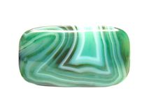 Green chalcedony mineral Royalty Free Stock Image