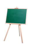 Green Chalk Board. With a wooden frame standing on a white background isolated on white Royalty Free Stock Image