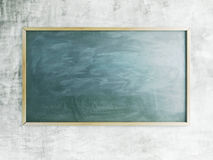 Green chalk board. With chalk traces and wooden frame Stock Images