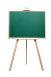 Green Chalk Board in wooden frame. School Green Chalk Board with a wooden frame standing on a white background isolated on white Royalty Free Stock Images