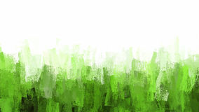 Green chalk brush strokes background. Stock Photos