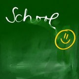 Green chalkboard background - happy school Royalty Free Stock Photo
