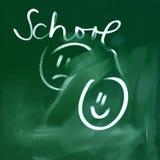 Green chalkboard background, metaphore Stock Photo