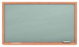 Green Chalkboard. Blank chalkboard with wooden frame. Chalk dust surface. Copy Space vector illustration