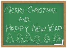 Green Chalkboard With Christmas Wish Stock Image