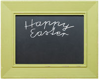 Green chalkboard Happy Easter Royalty Free Stock Photos