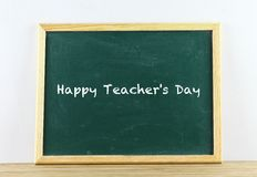 Green chalkboard isolated Royalty Free Stock Photos