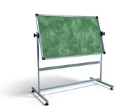 Green chalkboard with metal frame 3d render on white Stock Image