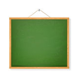 Green chalkboard with shadow isolated over white background Stock Images