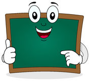 Green Chalkboard Smiling Character Royalty Free Stock Images