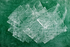 Green chalkboard texture Royalty Free Stock Photography