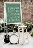 Green chalkboard Royalty Free Stock Photos