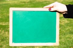 Green chalkboard Royalty Free Stock Photography