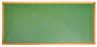 Green chalkboard on wood frame Royalty Free Stock Image