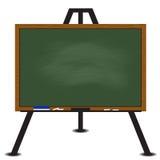Green chalkboard wood frame on easel. Vector Stock Image