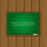 Green chalkboard on wooden background Stock Image