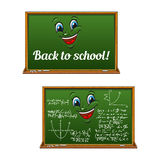 Green chalkboards for Back to School design Stock Photography