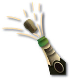 Green champagne bottle Royalty Free Stock Photography