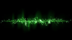 Green chaotic beam Royalty Free Stock Photos