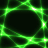 Green chaotic lines on dark background - template Stock Photos