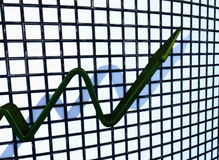 Green Chart Rising Stock Photos