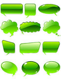 Green chat. Vector of green chat elements Stock Photo