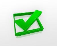 Green check box Royalty Free Stock Photos