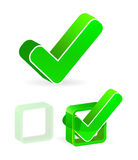 Green check box Royalty Free Stock Image
