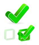 Green check box. With check mark Royalty Free Stock Image