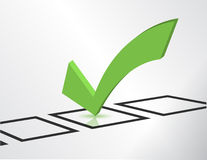 Green check list symbol Stock Image