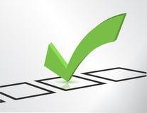 Green check list symbol Stock Image