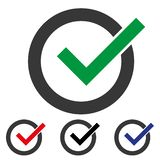 Green check mark icon in a circle. Check list button icon. Check Mark Isolated Flat Web Mobile Icon Vector Sign Symbol Button royalty free illustration