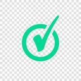 Green Check Mark Icon in Circle. Tick Symbol royalty free illustration