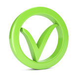 Green check mark Stock Image