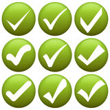 Green check marks Royalty Free Stock Photo