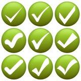 green check marks Royalty Free Stock Photo