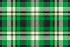 Green check plaid seamless fabric texture. Vector illustration Royalty Free Stock Images