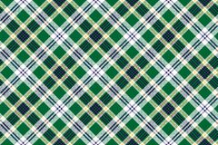 Green check tartan fabric texture seamless pattern. Vector illustration Royalty Free Stock Image