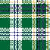 Green check tartan fabric texture seamless pattern Royalty Free Stock Image