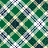 Green check tartan fabric texture seamless pattern Royalty Free Stock Photography