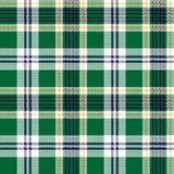 Green check tartan fabric texture seamless pattern. Vector illustration Stock Images