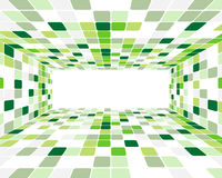Green checked background Stock Photos