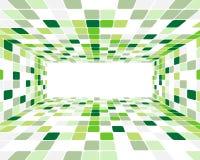 Green checked background Stock Photos