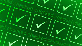 Green checked boxes Stock Image